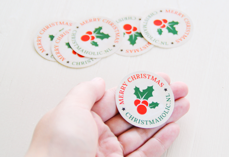 Christmaholic stickers