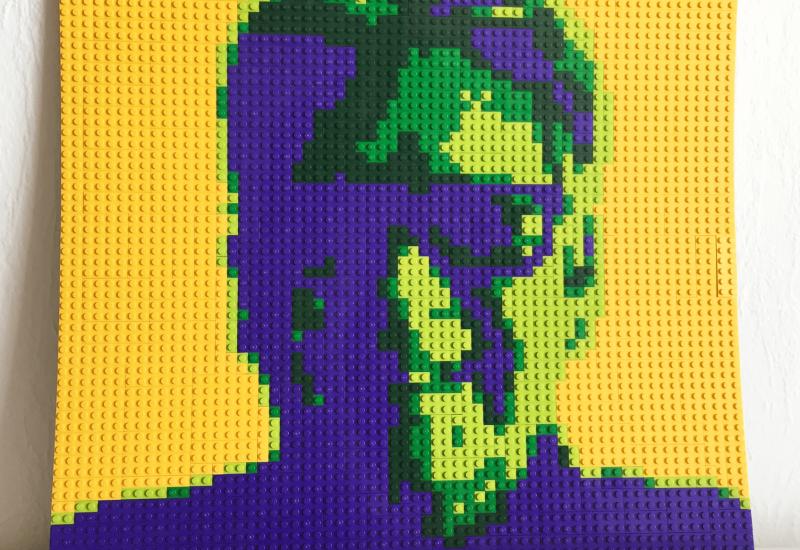 LEGO portret van Frank Janssen