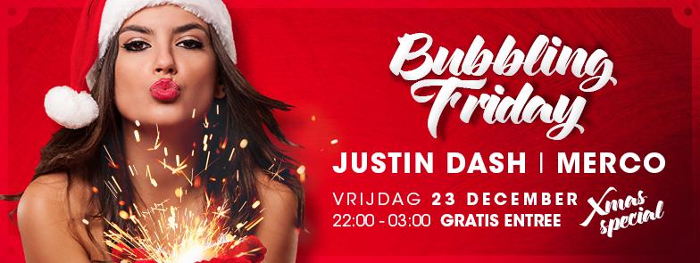 Bubbling Friday Kerst header