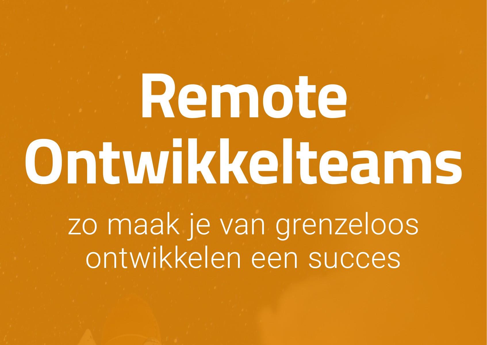 Proshore eBook: Remote Ontwikkelteams